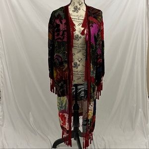 Chico's Patchwork Cardigan Size S/M